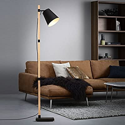 Adjustable/Flexible Retro Spot Light/Swing Industrial Style,The Nordic Simple Living Room Sofa Bed Standing Lamp Solid Wood Floor Lamp Warm Study Eye Lamps Wooden Lamps,