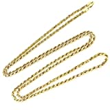 14K Gold 3MM Diamond Cut Rope Chain Necklace Unisex Sizes 16''-30'' (16)