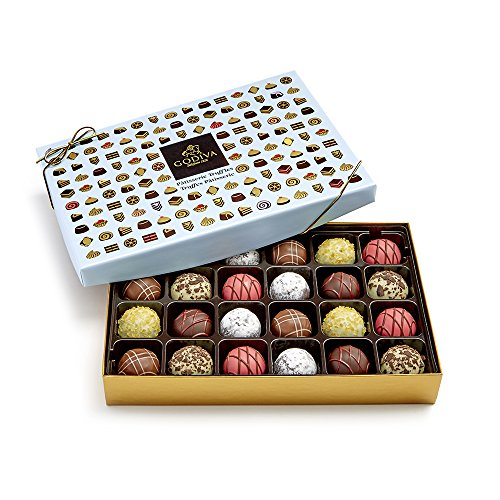 Godiva Chocolatier Patisserie Chocolate Truffle Gift Box, Chocolate Treats, Great as a Gift, Premium Chocolate, 24 pc