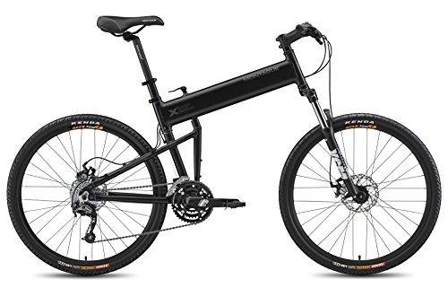 Montague 18-Inch Paratrooper Pro Folding Bike Matte Black [並行輸入品] B06XFTV9RC