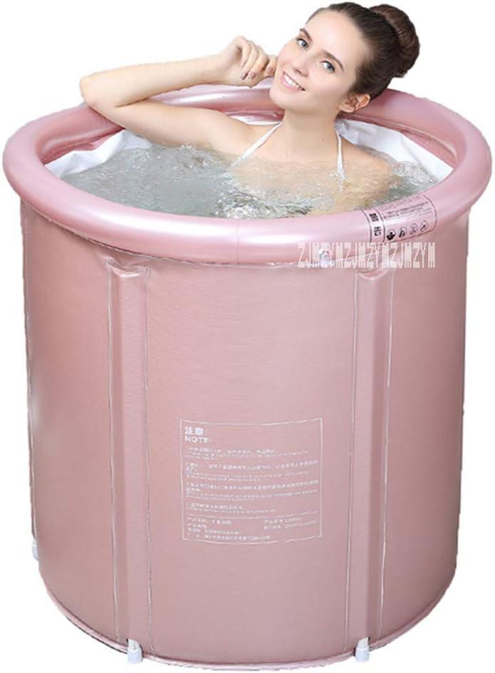 JFRI Piscina Hinchable Banera Piscinas termostático Plegable baño de barriles baño para Adultos bañera de plástico Grueso baño de Burbujas Burbuja SPA SPA basi