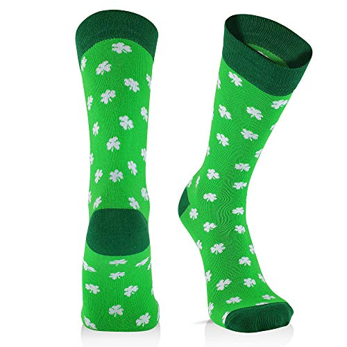 Cool Socks For Men: Mens Funny Dress Socks: Novelty Crazy & Funky Colorful Sock: Irish St. Patricks Day -