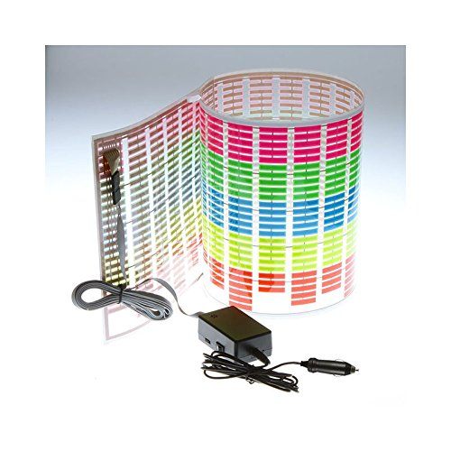 - Docooler Car Sticker Music Rhythm LED Flash Light Lamp Sound Activated Equalizer (90x25cm)