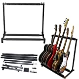 J&T Guitar Stand Holder Stage Folding Adjustable Multi Rack Hold Up To 5 Guitars for Acoustic guitar Electric guitar and Bass -  J&T Jordan