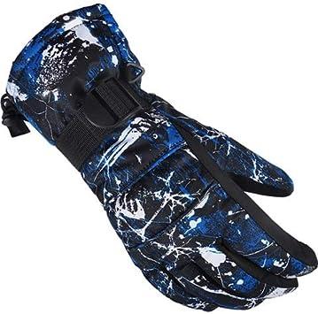 JINSUO DXXLD Hombres/Mujeres/Guantes niños esquí Guantes de Snowboard Ultraligero Impermeable de Sonw cálido Invierno Guantes de Lana de Motos Motos de Nieve a Caballo (Color : NO.1, Size : X-Large)