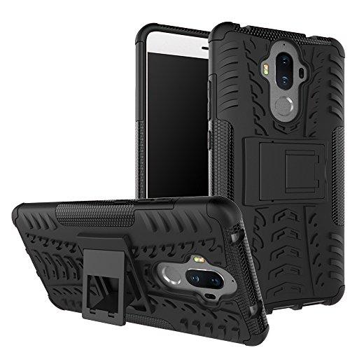 OFU®Para Huawei Mate 9 Smartphone, Híbrido caja de la armadura para el teléfono Huawei Mate 9 resistente a prueba de golpes contra la lucha de viaje accesorios esenciales del teléfono-negro