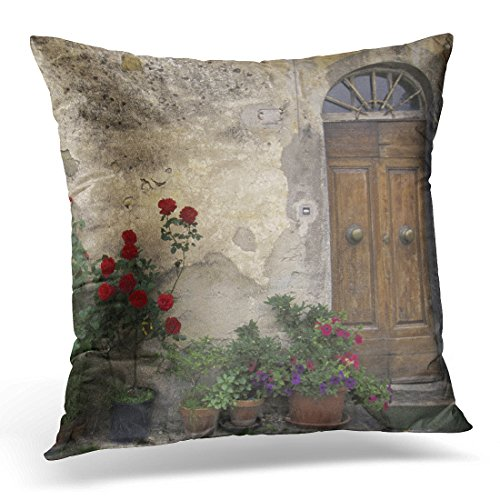 Emvency Throw Pillow Cover Flower Day Europe Italy Tuscany Chianti Tuscan Outdoors Decorative Pillow Case Home Decor Square 16 x 16 Inch Pillowcase