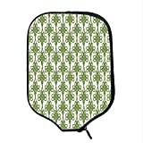 YOLIYANA Irish Durable Racket Cover,Entangled Clover Leaves Twigs Celtic Pattern Botanical Filigree Inspired Retro Tile Decorative for Sandbeach,One Size