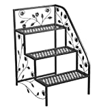 Tierra Garden 39-100362R 3-Tier Right Corner Plant Stand, 19.5 by 23.5 by 31.5-Inch, Black