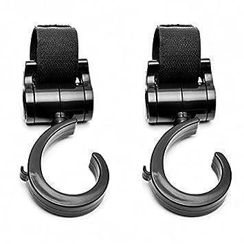 Amazon.com: SpacioQ Universal Stroller Hooks Multi Purpose Hooks ...