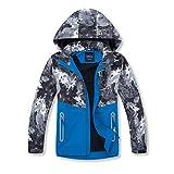 MGEOY Boys Rain Jackets Lightweight Waterproof Hooded Coats Windbreakers for Kids Grey 4/5