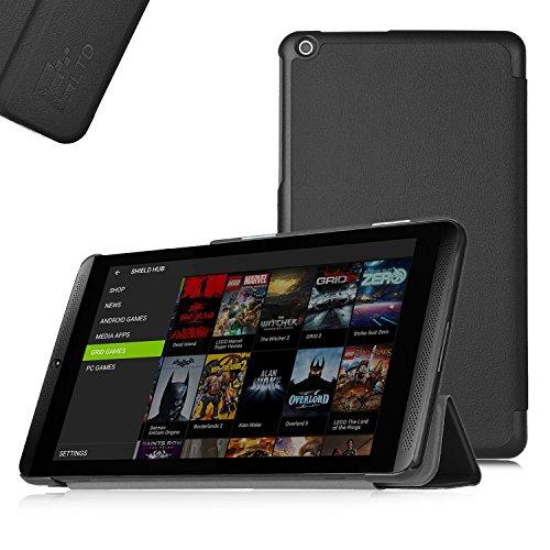 ELTD NVIDIA SHIELD K1 Tablet Hülle Case - Ultra Schlank Smart Cover Tasche Schutzhülle Case für NVIDIA SHIELD K1 Tablet mit Standfunktion und Auto Sleep / Wake Funktion, Schwarz