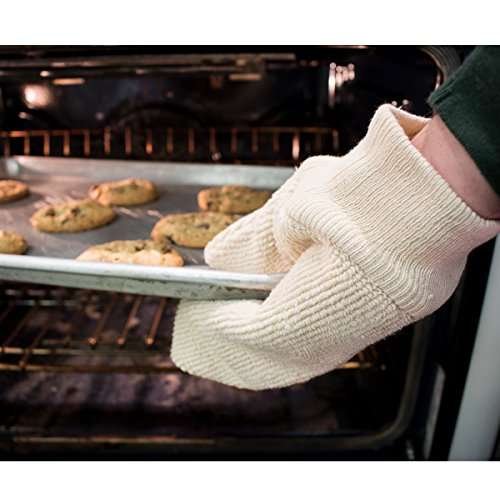 UltraSource Terry Cloth Oven Mitts for Baking, Heat Resistant up to 450°F (Pair) by UltraSource (Image #1)