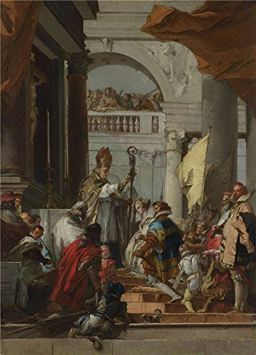 The Polyster Canvas Of Oil Painting 'Giovanni Domenico Tiepolo The Marriage Of Frederick Barbarossa ' ,size: 8 X 11 Inch / 20 X 28 Cm ,this Cheap But High Quality - Roman Shade Leather