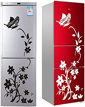 Nikgic 1pc Hermosas Pegatinas de Mariposas y Flores Cocina Cuarto de Baño Refrigerador Sala de Estar Etiqueta de la Pared Calcomanía Pared (Rojo): Amazon.es: Bricolaje y herramientas