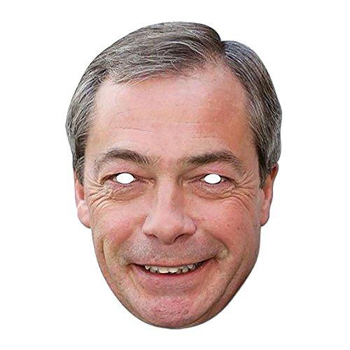 Maskarade Official UKIP Leader Nigel Farage Cardboard Face Mask