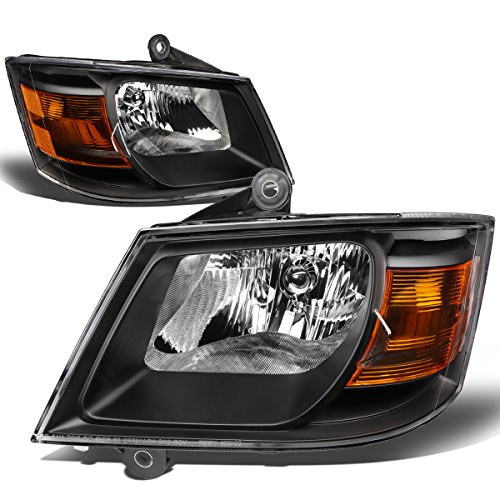 17-BK-AM Pair of Headlight Assembly [08-10 Dodge Grand Caravan 3.3-4.0L] (Dodge Grand Caravan Minivan)
