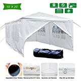 VINGLI 10' x 20' Outdoor Canopy Wedding Party Tent with 6 Removable Sidewalls,Upgraded Steel Tube Steady,Sunshade Anti-UV Shelter Event Gazebo Pavilion,w/Carrying Bag Gift