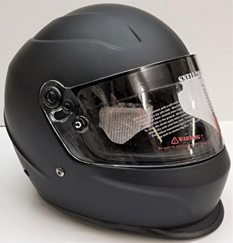 Typhoon Helmets Snell SA2015 Approved Full Face Auto Racing Helmet ( Matte Black, Medium )