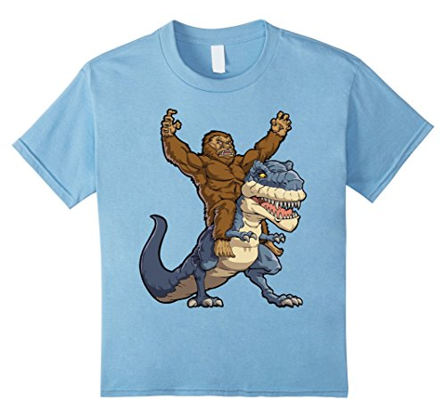 Sasquatch Costume Infant (Kids Bigfoot Sasquatch Riding Dinosaur T shirt Funny Monster Gift 12 Baby)