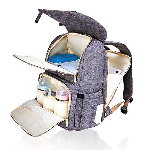 SUNVENO Baby Diaper Bag Diaper Changing Backpack Waterproof