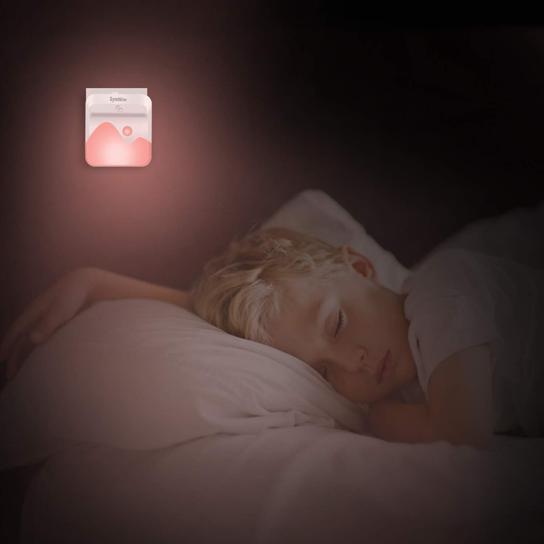 Salle de Bains//Couloir Multi Couleur Veilleuse Enfant Eclairage pour Chambre B/éb/é Salon Garage Veilleuse LED,Lampe Nuit Murale Automatique Plug-and-Play avec Capteur Cr/épusculaire