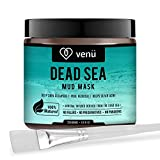 Facial Cellulitis Treatment - Organic Dead Sea Mud Mask - Face and Body Beauty Detox Treatment, Deep Skin Cleanser - Helps Reduce Pores, Acne, Stretch Marks, Cellulitis and Wrinkles - Brush Included - by Venu