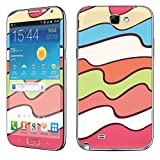samsung wave ii - Samsung [Galaxy Note 2] Skin [NakedShield] Scratch Guard Vinyl Skin Decal [Full Body Edge] [Matching WallPaper] - [Color Waves] for Samsung Galaxy [Note 2]