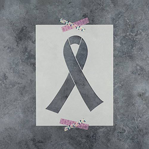 Breast Cancer Ribbon Stencil Template - Reusable Stencil with Multiple Sizes Available