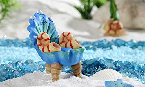 Beach Fairy Garden Seashell Chair Figurine from Under the Sea Collection by Gift Craft