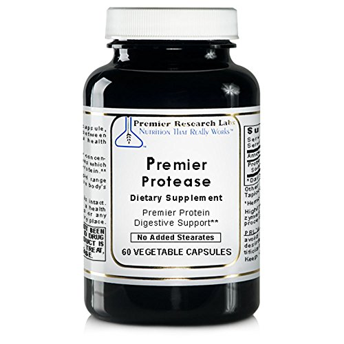 Premier Protease, 60 Capsules - Proteolytic Enzyme Concentrate for Premier Protein Digestive Support