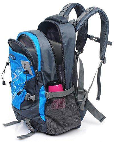 Binlion Taikes Outdoor Sport Camping Hiking Backpack mochila de senderismo Deportes y aire Libre para Mochilas y bolsas Mochilas Tipo Casual y Bolsas y Mochilas para portátiles y netbooks Black-1