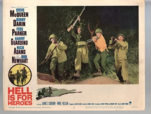 Amazon.com: MOVIE POSTER: Hell Is For Heroes-Steve McQueen-Bobby ...