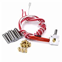Hot End for 3D Printer Assembled Extruder DIY Hotend 1.75mm Filament 0.4mm Nozzle 12V 40W Heater Including 10PCS Extra Nozzles and Tubes(30mm Length) by Camping Family