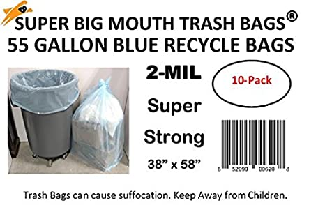 Super Big Mouth Azul Teñido reciclar basura bolsas de basura ...