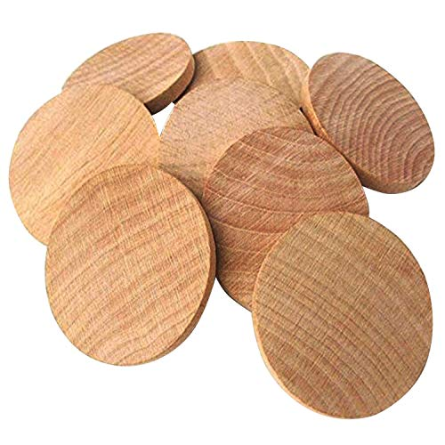 AxeSickle Natural Wood Slices 1.5 inch Unfinished Round Wood 100PCS These Round Wood Coins for Arts & Crafts Projects, Board Game Pieces, Ornaments, The Limitations are Endless!