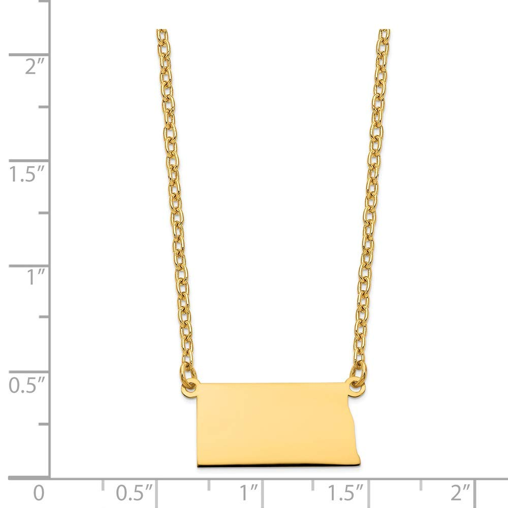 Jewelry Necklaces Necklace with Pendants GP ND State Pendant with chain