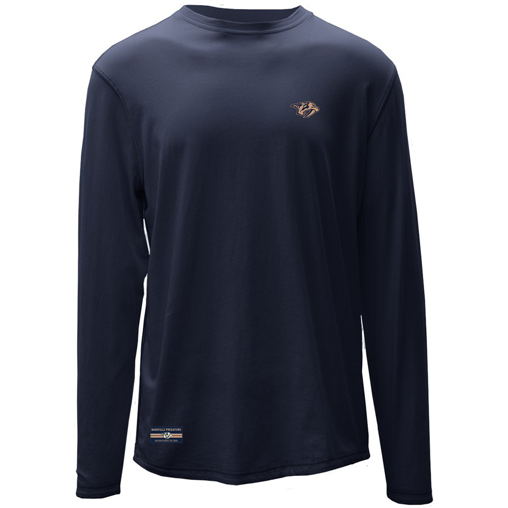 Levelwear LEY9R NHL Nashville Predators Adult Men Harbor Founder Long Sleeve Tee Navy X-Large