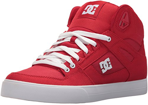 DC-Mens-Pure-High-Top-WC-TX-Le-Skate-Shoe-RedWhite-85-D-US