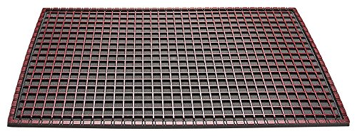 CarFashion 258303Universal All-Weather Mat with Beautifully Coloured top, TPE VC 100% Sustainable, Metallic Red Finish, 52x 37x 0.7cm