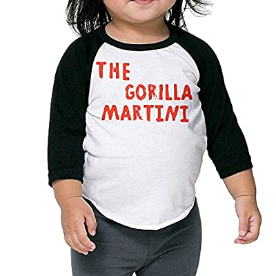 Bruno Mars Hit Song Gorilla Kids 3/4 Sleeve Raglan T-Shirts