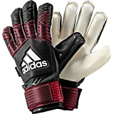 adidas Performance Ace Finger Save Junior Goalie Gloves, Black/FCB True Red/White, 6