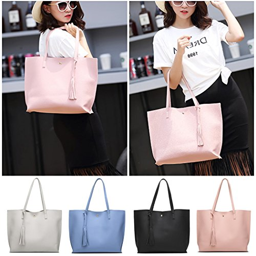Bag Bageek Purse Handbags Tassel Women Bag Tote Bag PU Leather Fashion Shoulder with Shopping Hobo vqS54gn