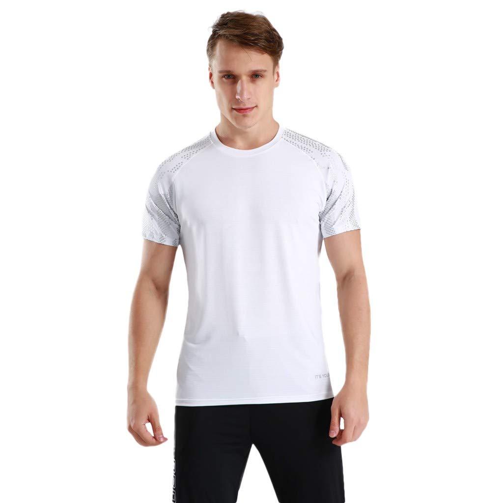 Winsummer Men's Dry Fit Athletic Shirts Short Sleeve T-Shirt Running Fitness Tee Shirts Crewneck Tshirts by Winsummer (Image #1)