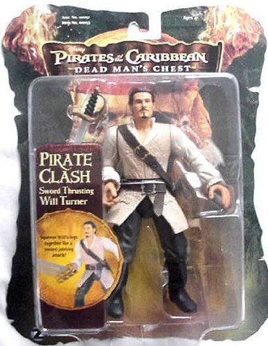 Pirates of the Caribbean 2 Will Turner 7 Pirate Battler Figure
