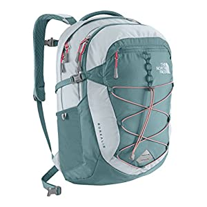 The North Face Borealis Daypack for Women (Hydro Green/Snowcone Red)