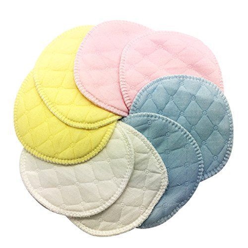 Great Deal! Lollo Organic Bamboo Nursing Pads, Breastfeeding Pads with Laundry Bag,8count