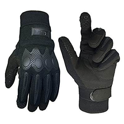 ILM Men Outdoor Gloves Full Finger Tactical Cycling Motorcycle Hard Knuckle Gloves