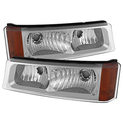 For 2003-2006 Chevy Silverado/Avalanche Chrome Bumper Turn Signal Parking Lights Lamps Left + right Pair ()