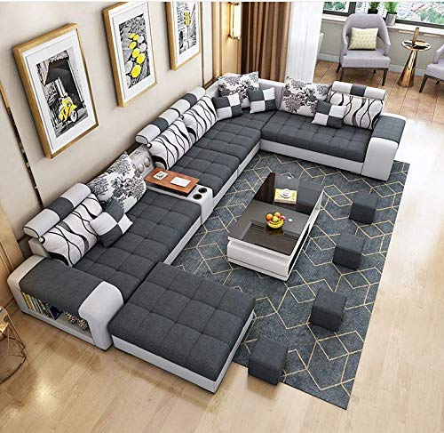 Gray Lounge Couch Furniture Living Room Sofa Sets for Living Room Modern